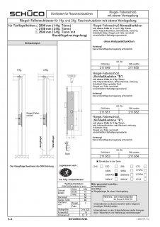 Schüco RF-Schloss Panik E , RS 34/92/9 RA:M5 U320x24 Nr. 211654