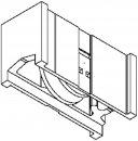 Schüco System/Profil Royal S 20N 2xLaufwagen 80kg B=20,8 mm Rolle iD=21,2mm