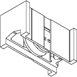 Schüco System/Profil Royal S 24N 2xLaufwagen 80kg B=24,8 mm Rolle iD=21,2mm